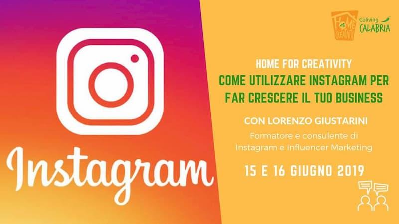 Come utilizzare Instagram per far crescere il tuo business 15 e 16 giugno 2019 a Montalto Uffugo