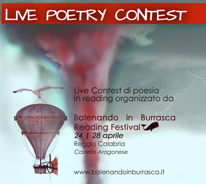 Contest Reading Balenando in burrasca 24 - 28 aprile 2019 locandina