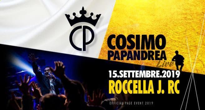 Cosimo Papandrea Live a Roccella Jonica 15 Settembre 2019
