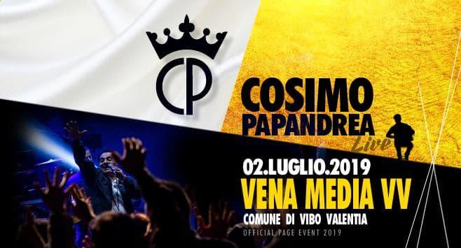 Cosimo Papandrea Live a Vena Media 2 luglio 2019