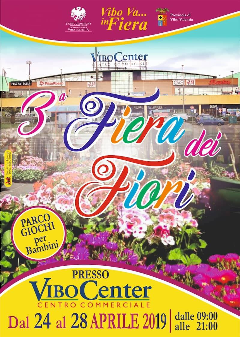 Fiera dei Fiori dal 24 al 28 aprile 2019 a Vibo Valentia locandina 2