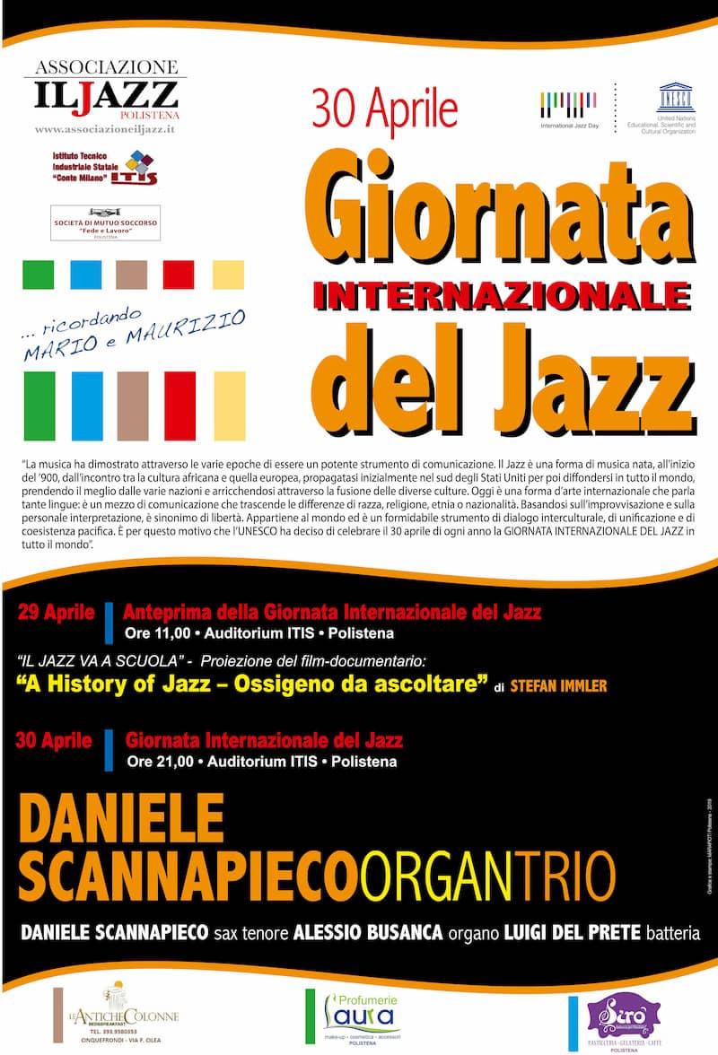 Giornata Internazionale del Jazz 30 aprile 2019 a Polistena locandina