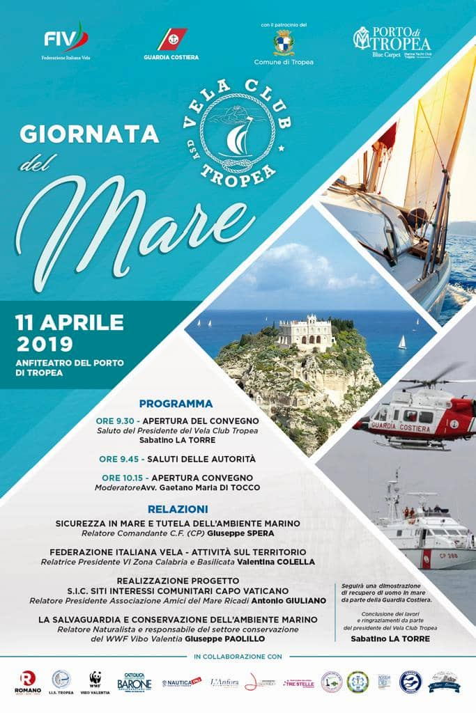 Giornata del mare e della cultura marina 11 aprile 2019 a Tropea locandina
