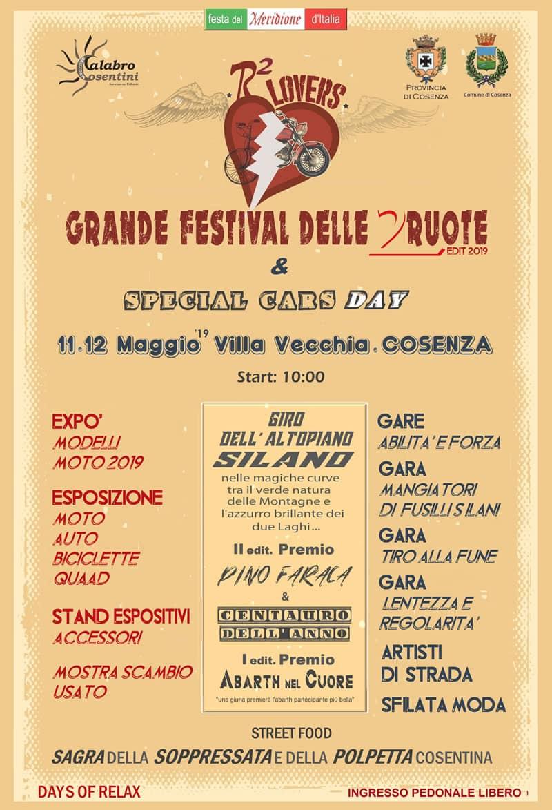 Grande Festival delle 2 ruote 11 e 12 maggio 2019 Cosenza locandina