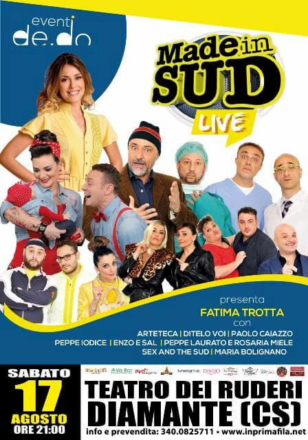 Made in Sud Show 17 agosto 2019 a Cirella di Diamante locandina