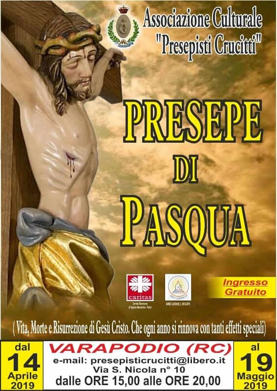 Presepe di Pasqua 2019 Varapodio dal 14 Aprile al 19 maggio 2019 locandina