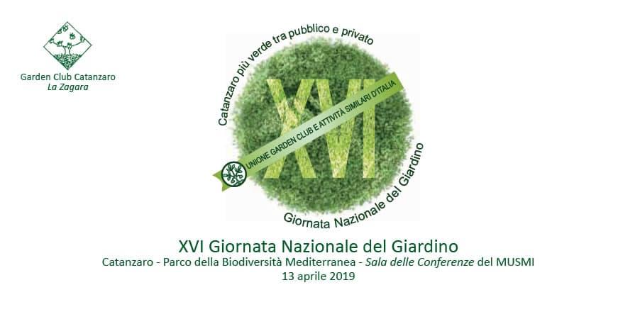 XVI Giornata Nazionale del Giardino a Catanzaro 13 aprile 2019