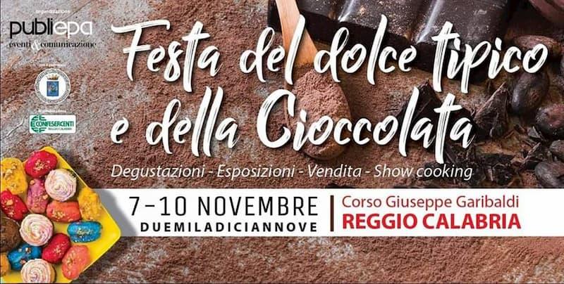 Festa Dolce Tipico Cioccolato Reggio Calabria 7-10 Novembre 2019