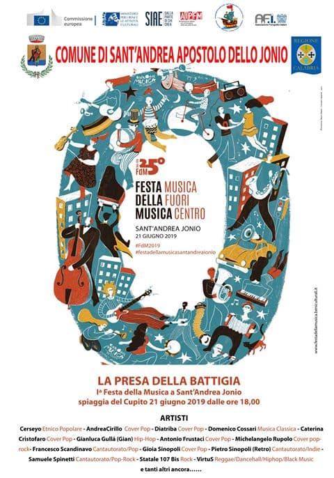 Festa della Musica a Sant'Andrea Apostolo dello Ionio 21 giugno 2019