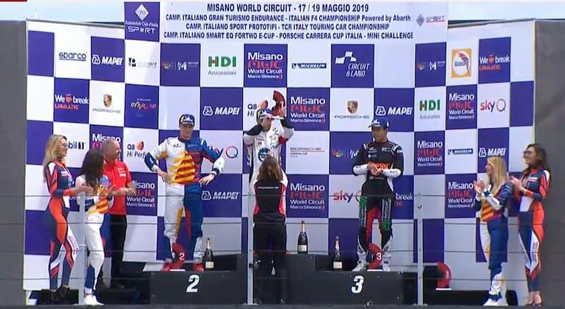 Il cosentino Iaquinta primo nella Carrera Cup Italia
