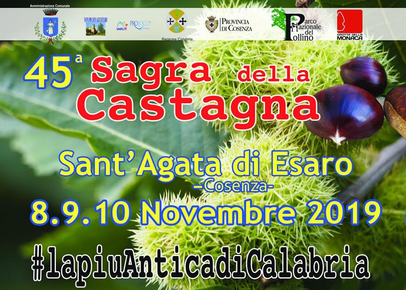 Sagra delle Castagne a Sant'Agata di Esaro novembre 2019 locandina