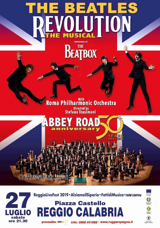 The Beatles Revolution Musical 27 luglio2019 a Reggio Calabria locandina