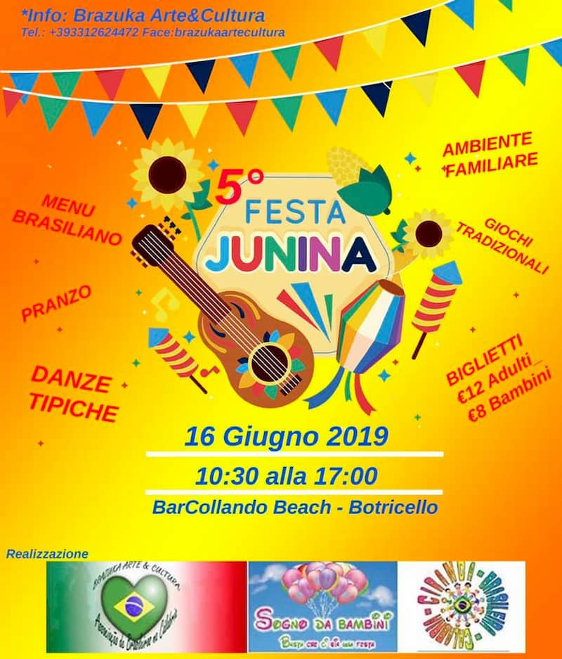 5° Festa Junina 16 giugno 2019 a Botricello locandina