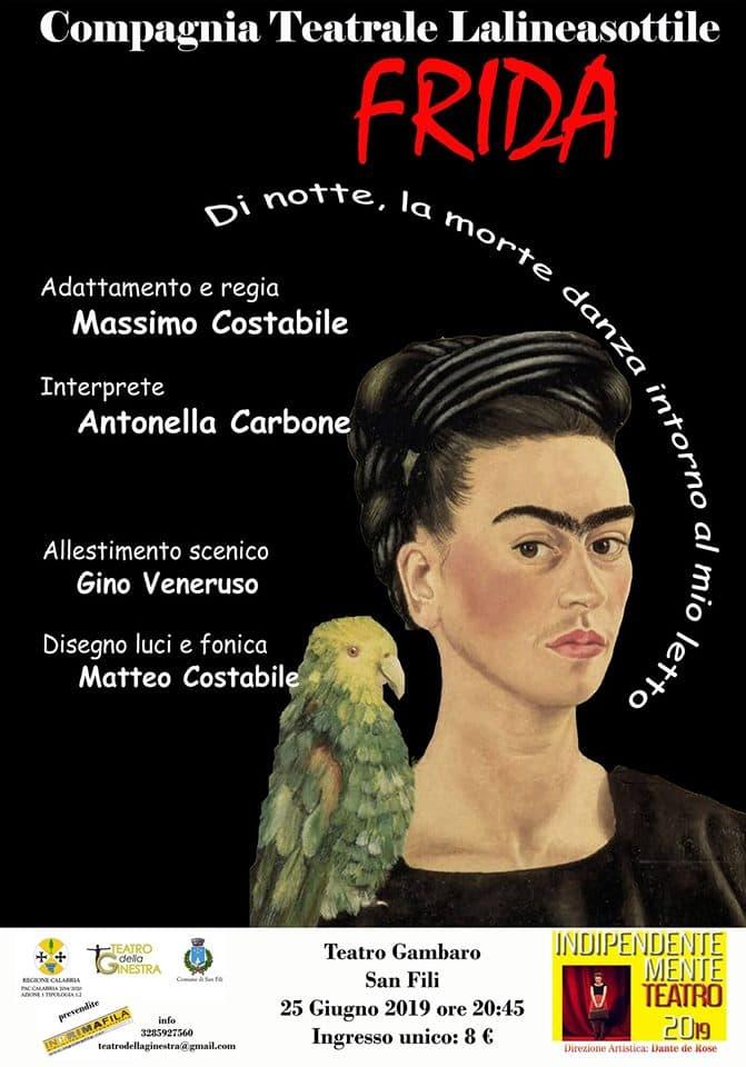 Autoritratto intimo di Frida Kahlo 25 giugno 2019 a San Fili