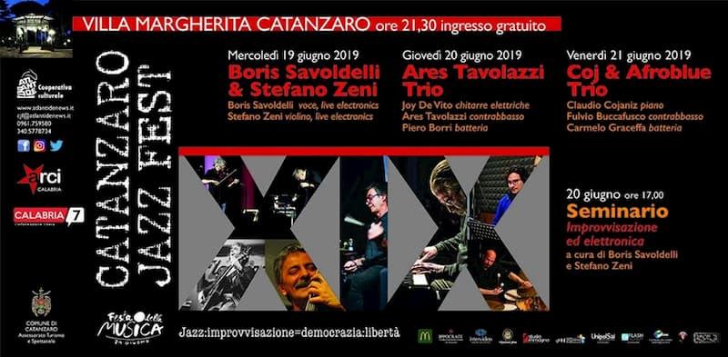 Catanzaro Jazz Fest XIX 19 20 21 giugno 2019 locandina