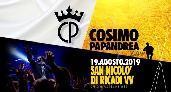 Cosimo Papandrea Live a San Nicolò di Ricadi 19 agosto 2019