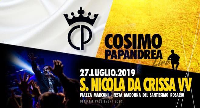 Cosimo Papandrea Live a San Nicola da Crissa 27 luglio 2019