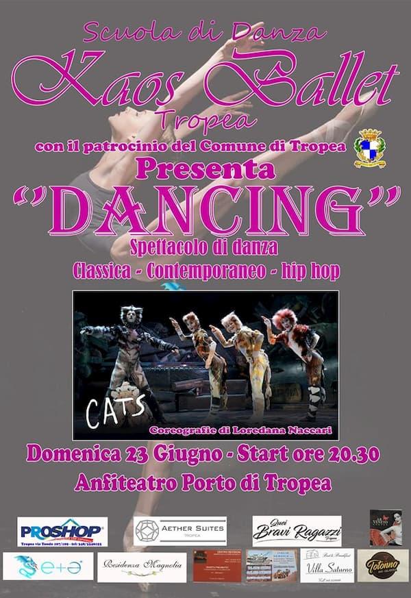Dancing 23 giugno 2019 Teatro del Porto di Tropea locandina