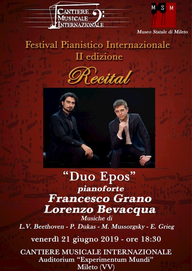 Duo Epos - Festival pianistico internazionale