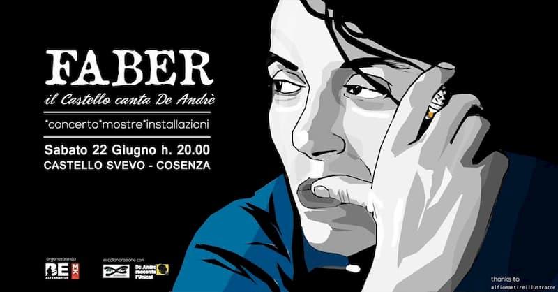 Faber il Castello canta De Andrè 22 giugno 2019 Castello Svevo di Cosenza