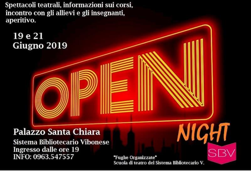 Fughe Organizzate OPEN Night! 19 e 21 giugno 2019 Palazzo Santa Chiara, Vibo Valentia