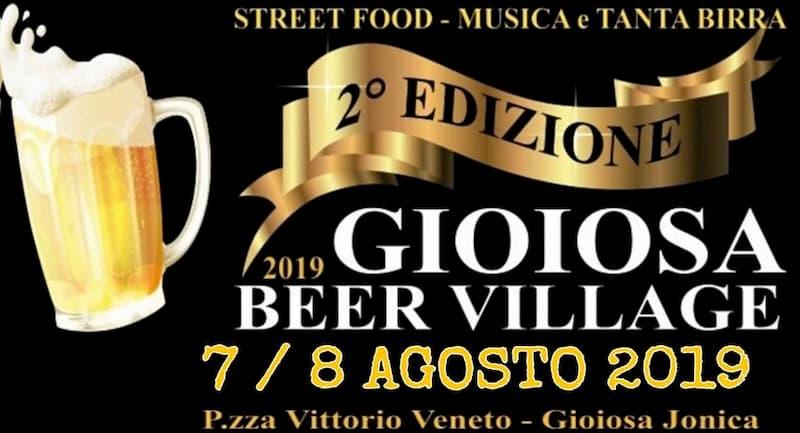 Gioiosa Ionica Beer Village Street Food 7 e 8 Agosto 2019 locandina