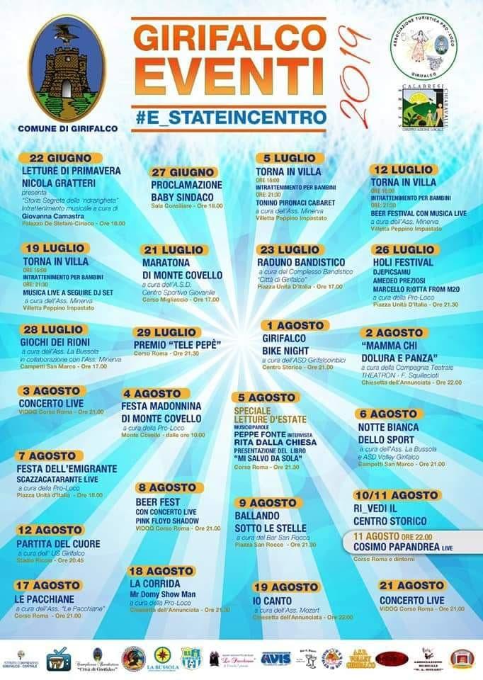 Eventi a Catanzaro 2019 e in tutta la provincia di Catanzaro
