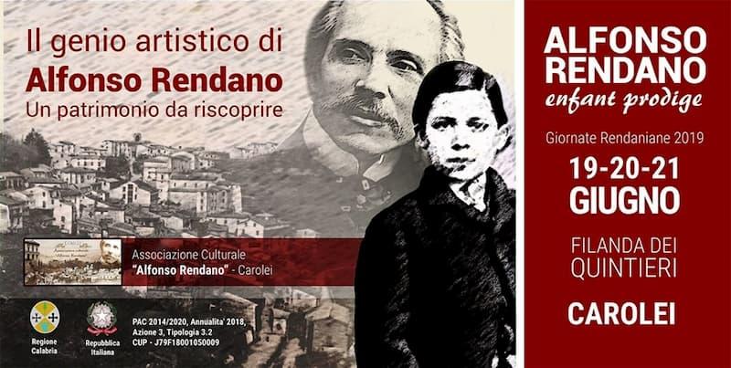 Il genio artistico di Alfonso Rendano 19 20 21 Giugno 2019 a Carolei
