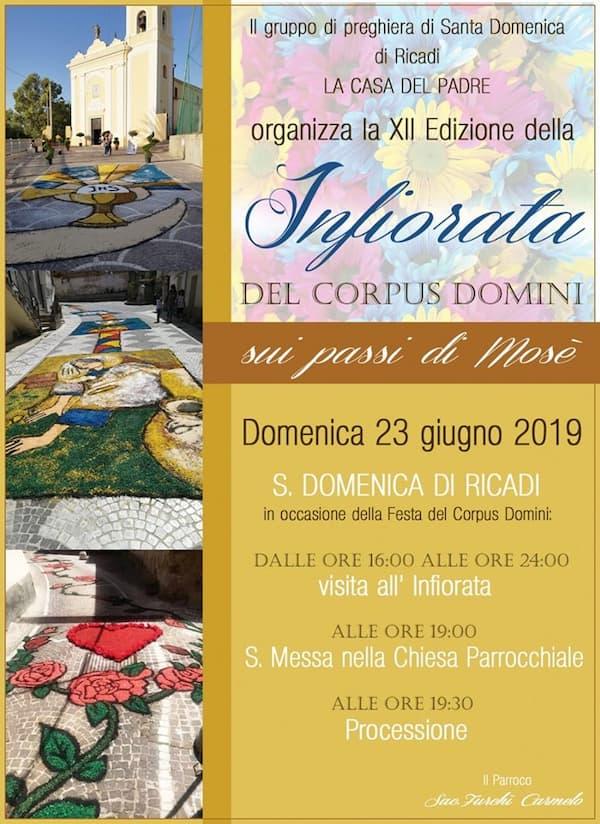 Infiorata di Santa Domenica di Ricadi 23 Giugno 2019 locandina