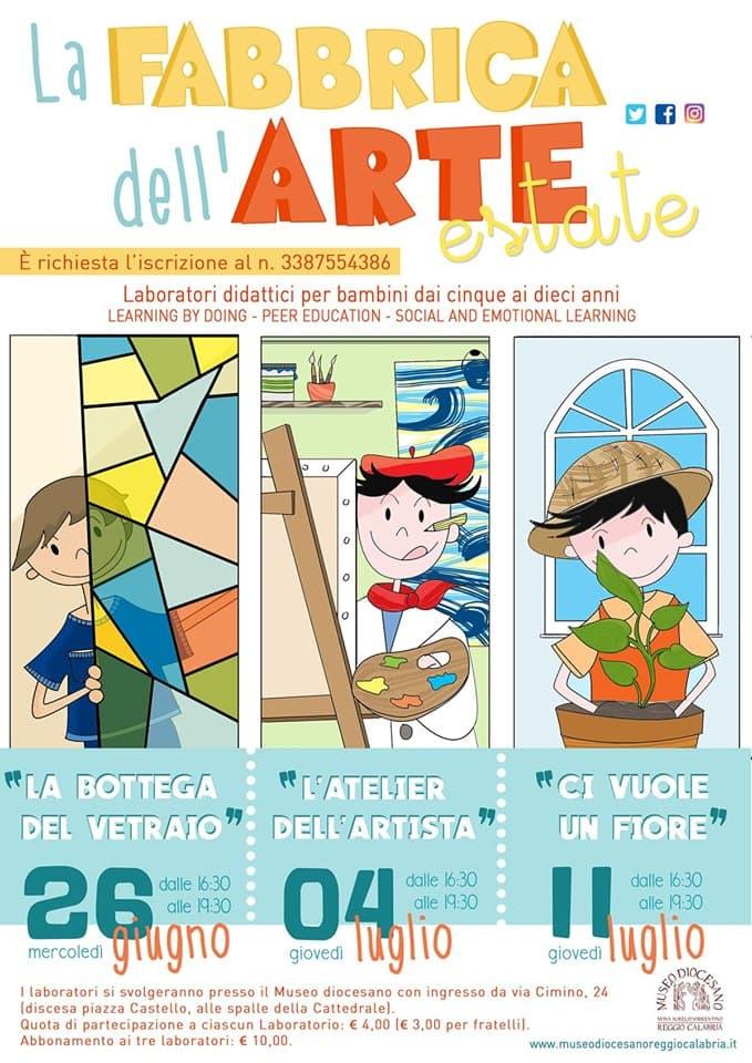 La Fabbrica dell'Arte Estate 2019 al Museo diocesano di Reggio Calabria locandina