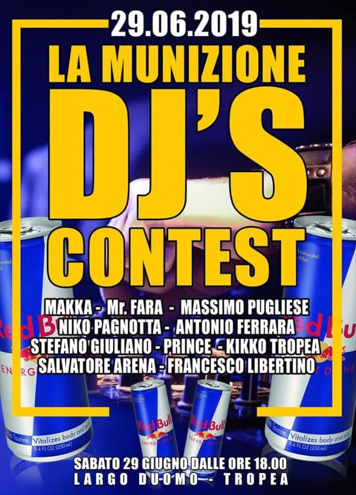 La Munizione DJ contest 29 giugno 2019 a Tropea locandina