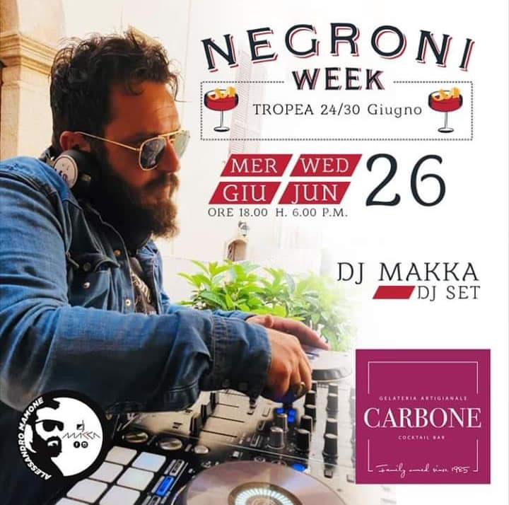 Makka DJ al Bar Carbone di Tropea 26 giugno 2019