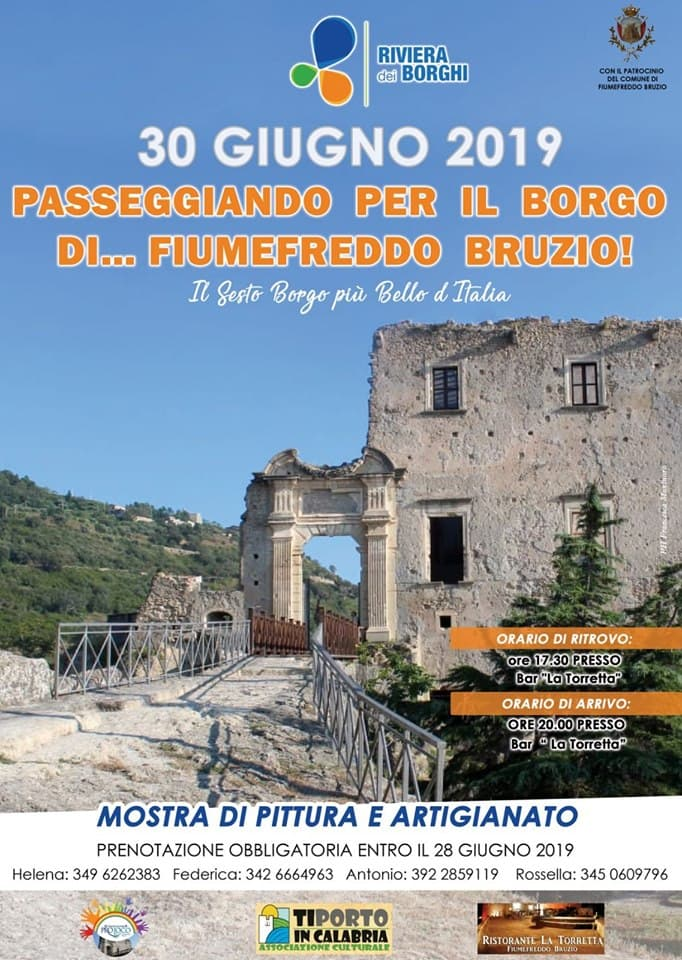 Passeggiando per il Borgo di Fiumefreddo Bruzio 30 giugno 2019 locandina