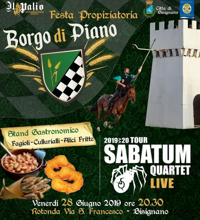 Sabatum Quartet a Bisignano 28 Giugno 2019