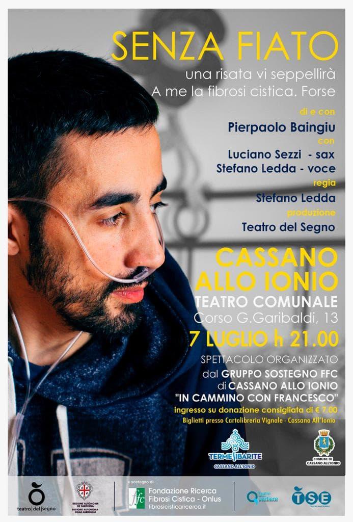 Senza Fiato Evento Fibrosi Cistica 7 luglio 2019 a Cassano allo Ionio