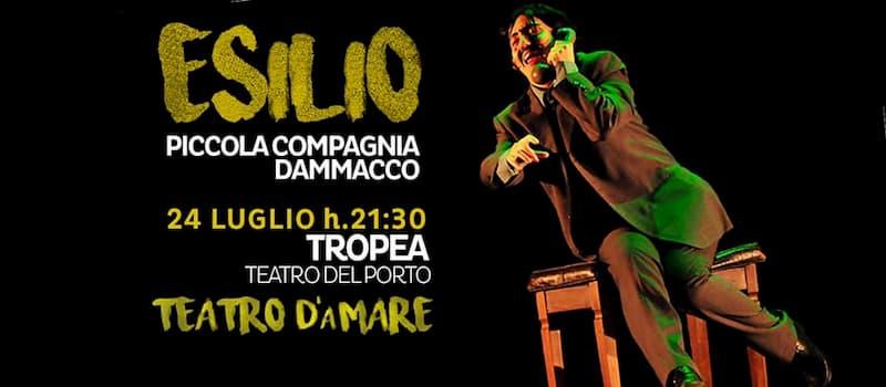 Teatro d'aMare in Esilio 24 luglio 2019 Porto di Tropea