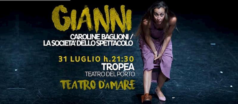 Teatro d'aMare in Gianni 31 luglio 2019 Teatro del Porto di Tropea