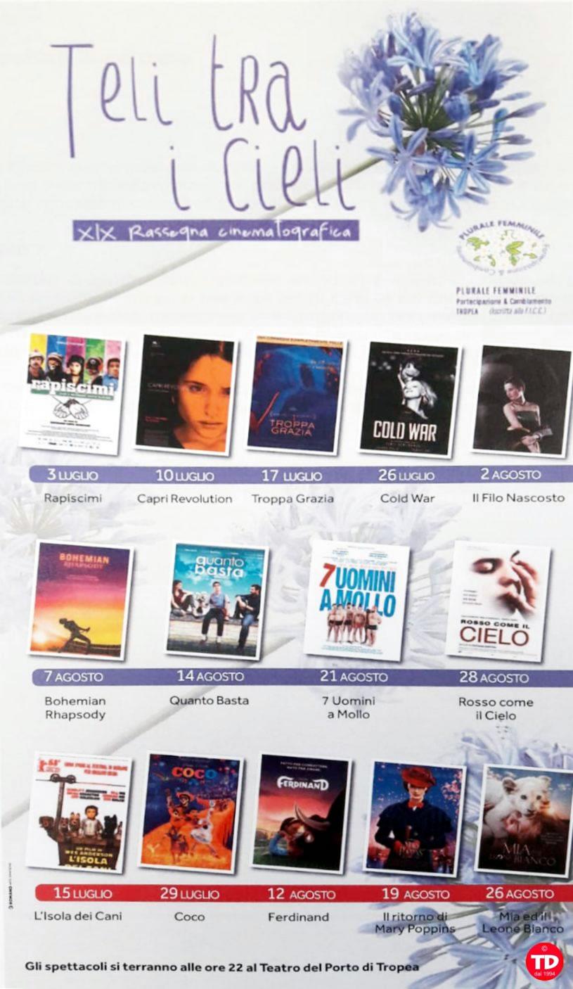 Teli tra i Cieli 2019 XIX edizione Teatro del Porto di Tropea locandina