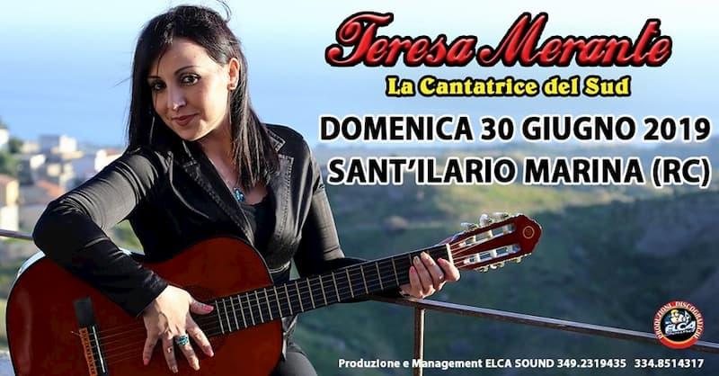 Teresa Merante in concerto a Sant'ilario marina 30 giugno 2019