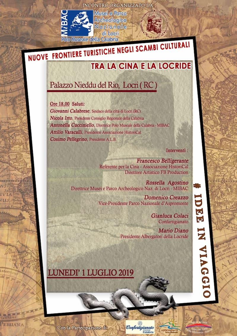 Tra la Cina e la Locride 1 luglio 2019 a Locri locandina