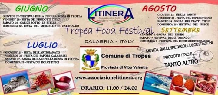 Tropea Food Festival dal 27 giugno all'8 settembre 2019