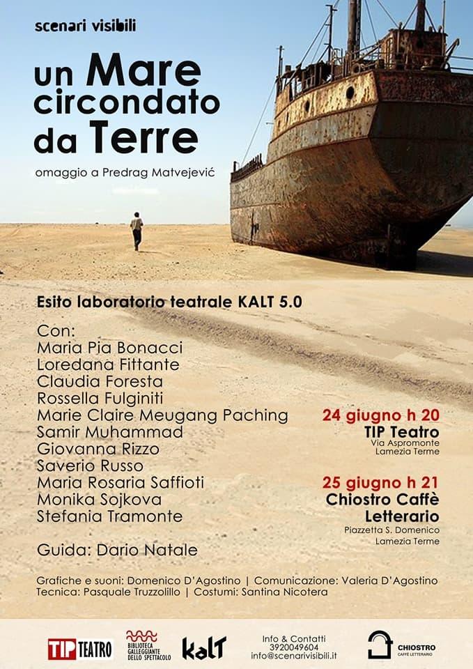 Un Mare circondato da Terre 24 e 25 giugno 2019 a Lamezia Terme locandina