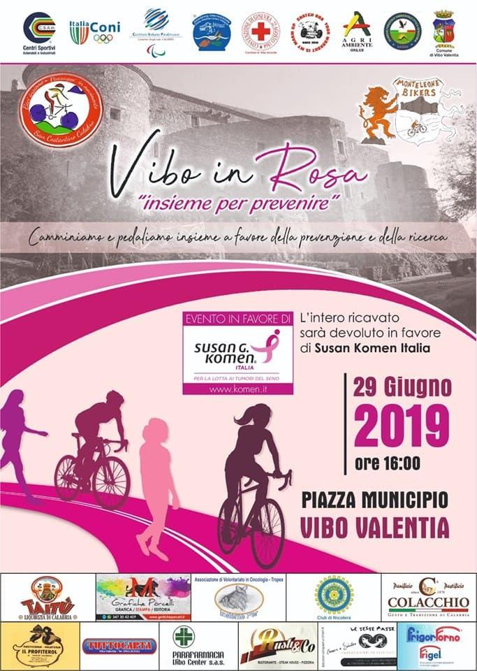 Vibo in Rosa 29 giugno 2019 a Vibo Valentia locandina