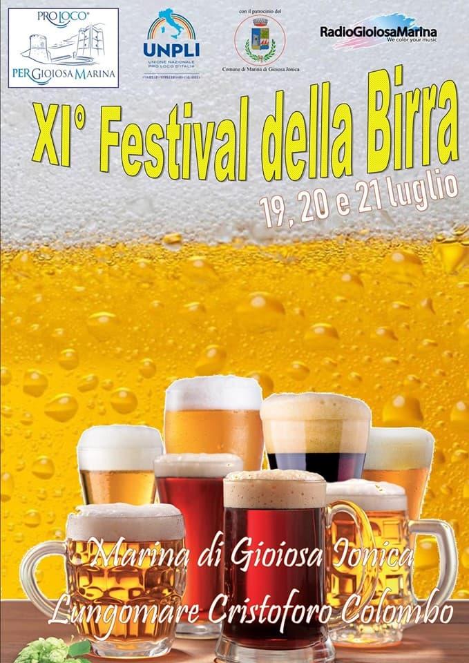 XI Festival DELLA BIRRA 19 20 21 luglio 2019 a Gioiosa Marina locandina