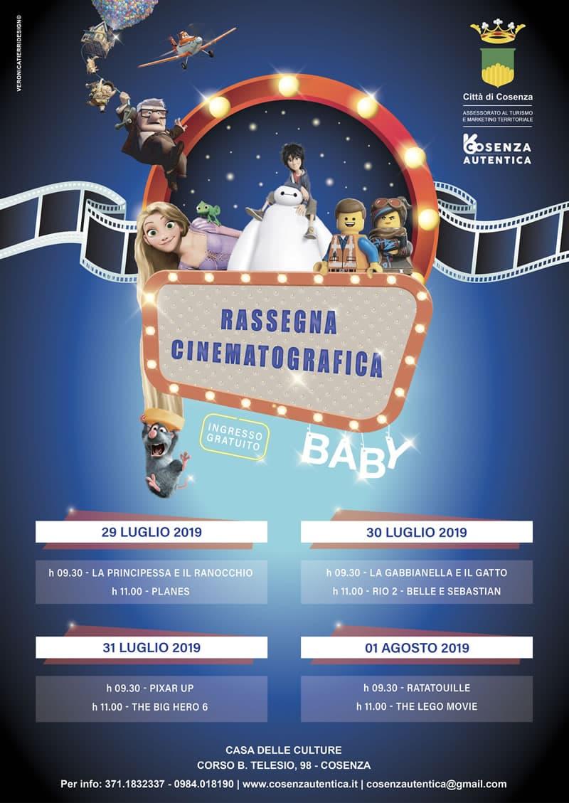 Da lunedì 29 luglio al 1 Agosto 2019 alla Casa delle Culture la rassegna cinematografica dedicata ai bambini Cosenza