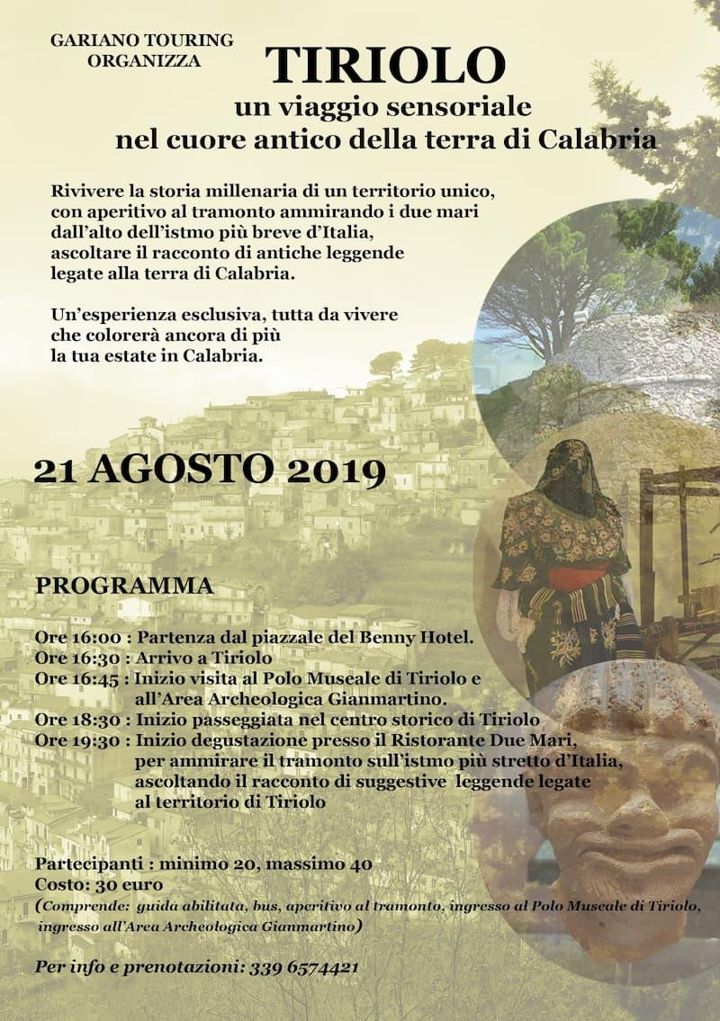 Escursione alla scoperta di Tiriolo 21 Agosto 2019