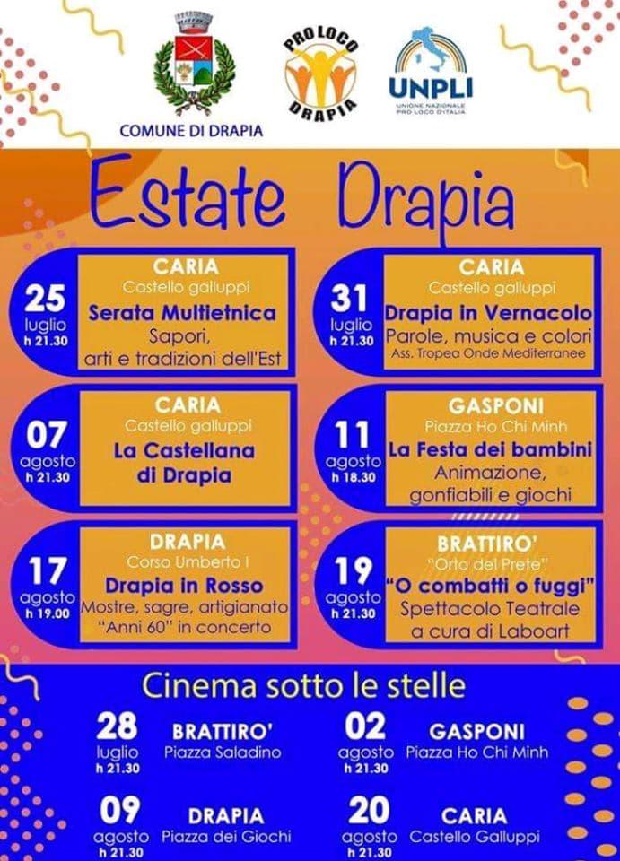 Eventi Estate 2019 a Drapia