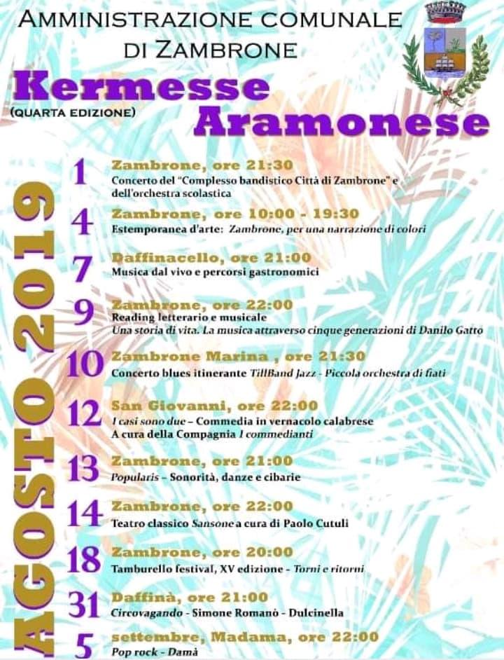 Eventi estate 2019 a Zambrone