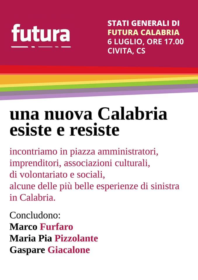 Futura - Gli Stati generali calabresi sabato 6 luglio alle 17 a Civita