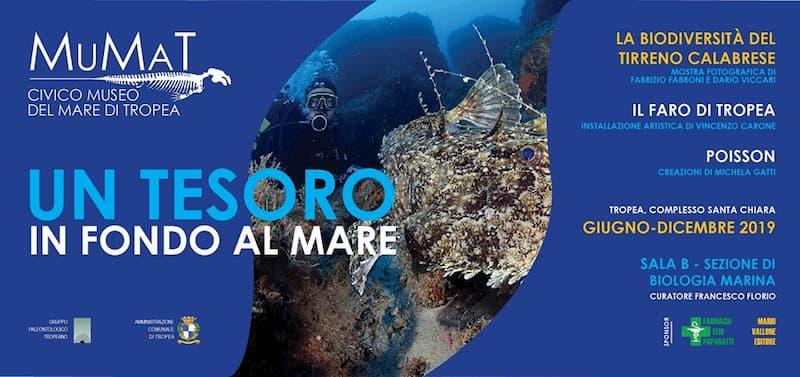 Mostra fotografica Un tesoro in fondo al mare 2019 al MuMat di Tropea locandina